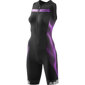 sailfish Comp Triathlon-puku Naiset, black/berry